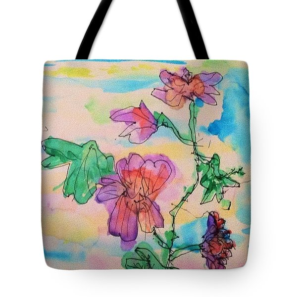 Flowers Are Blooming  Tote Bag