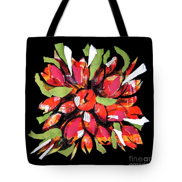 Flowers, Art Collage Tote Bag