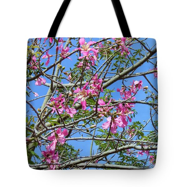 Flowers At Epcot Tote Bag by Kay Gilley