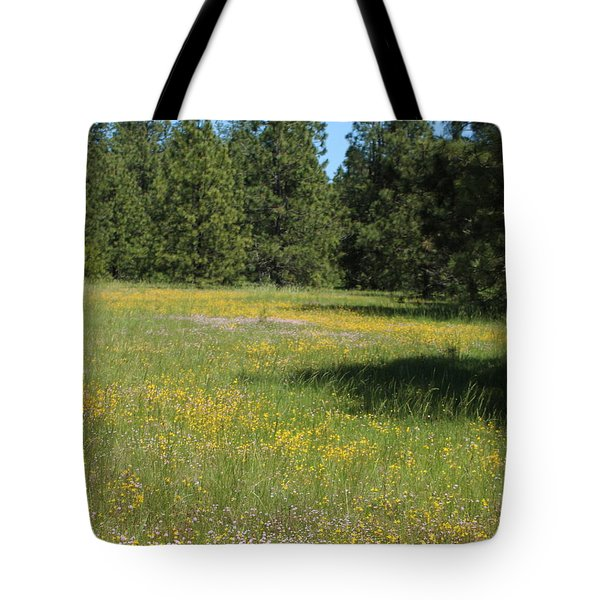 Flowers At Fish Hatchery Tote Bag