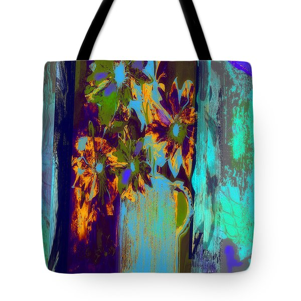Flowers Beneath A Bleeding Sun Tote Bag