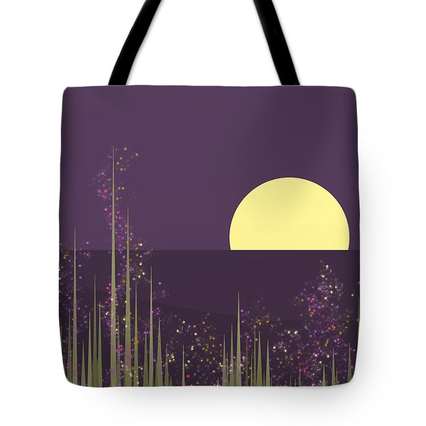 Flowers Blooming At Night Tote Bag