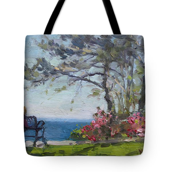 Flowers By Lake Ontario Tote Bag