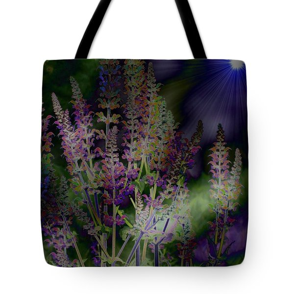 Flowers By Moonlight Tote Bag