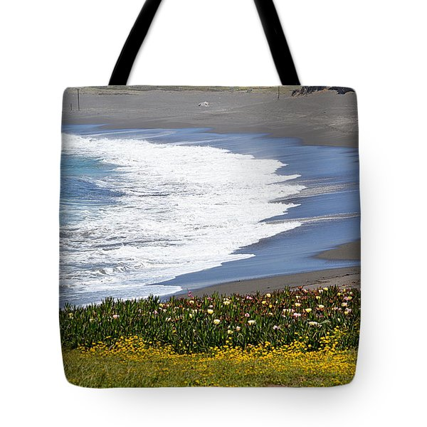 Flowers By The Sea Tote Bag