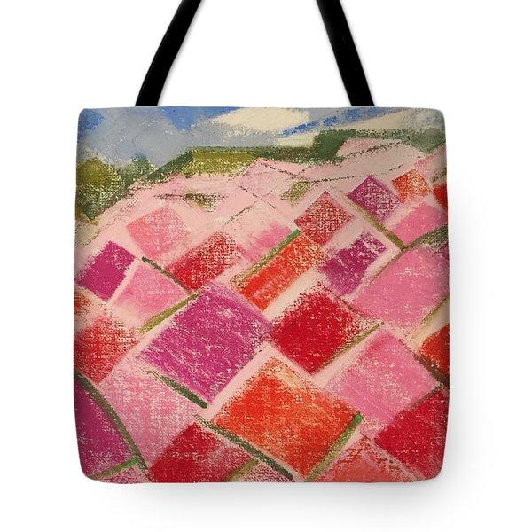 Flowers Fields Tote Bag