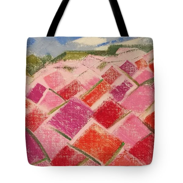 Flowers Fields Tote Bag