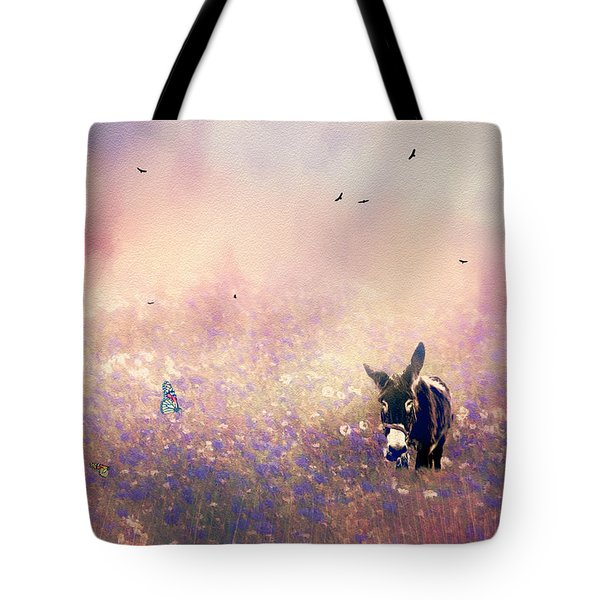 Flowers For Breakfast Tote Bag by Diane Schuster