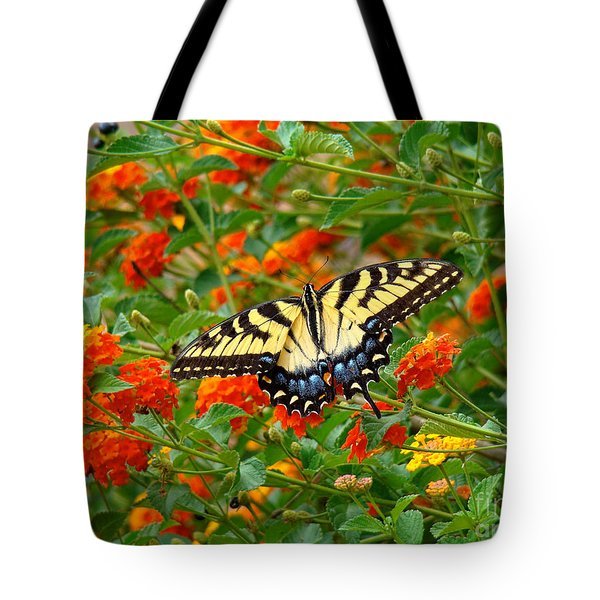 Flowers For Butterflies Tote Bag