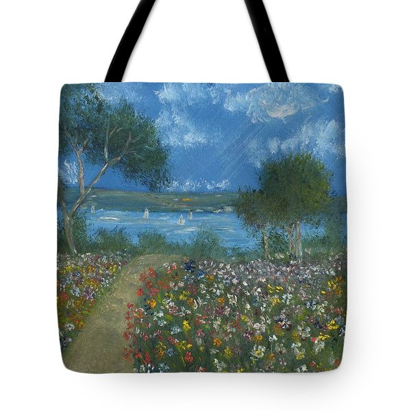 Flowers For Elmo A Silent Eulogy Tote Bag by Debbie