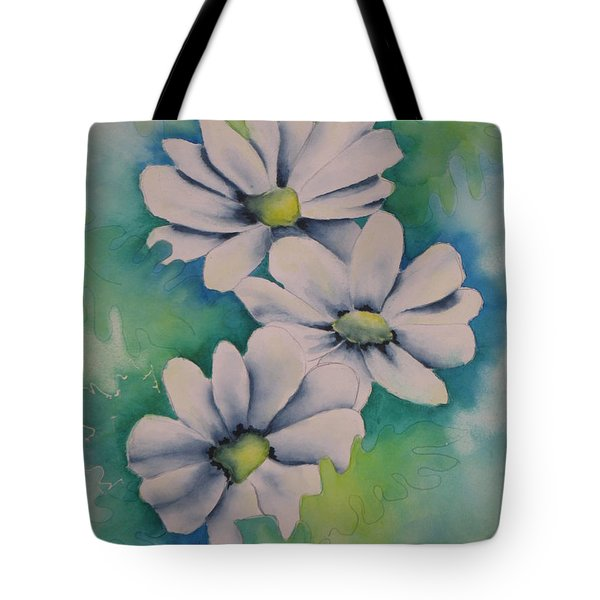 Tote Bag featuring the painting Flowers For You by Chrisann Ellis