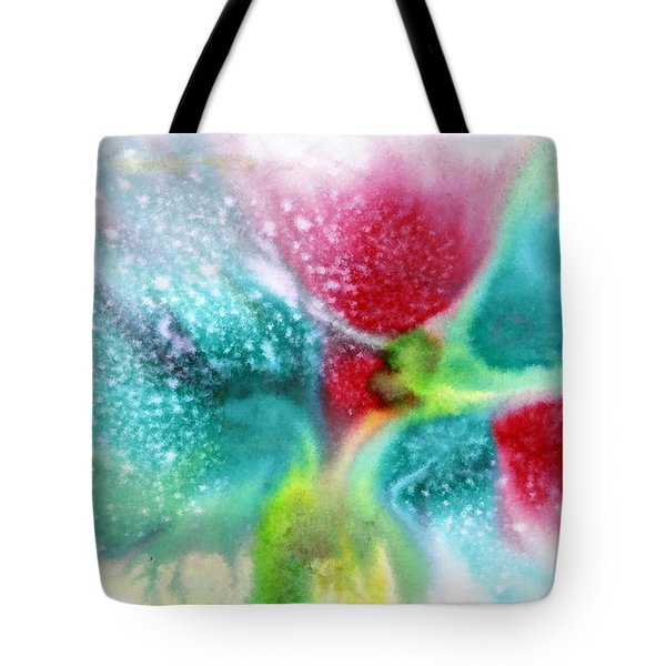 Flowers Forming Tote Bag