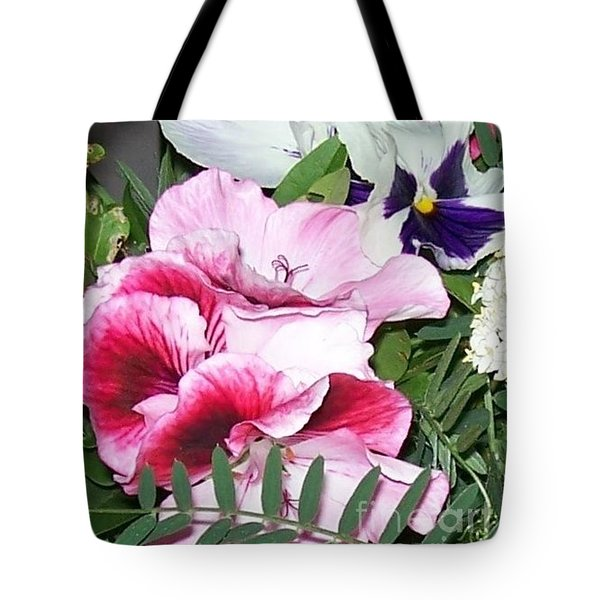 Tote Bag featuring the photograph Flowers From The Heart by Jolanta Anna Karolska