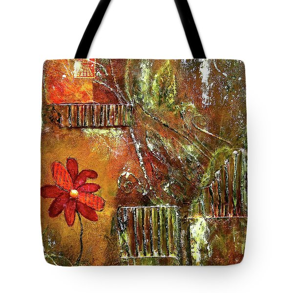 Flowers Grow Anywhere Tote Bag