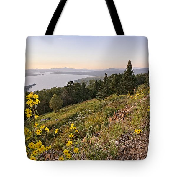 Flowers Height Of Land Tote Bag