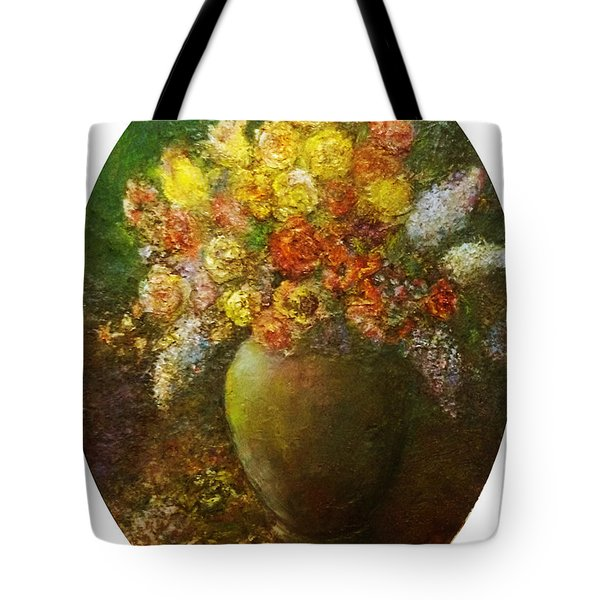 Flowers I A Green Vase Tote Bag