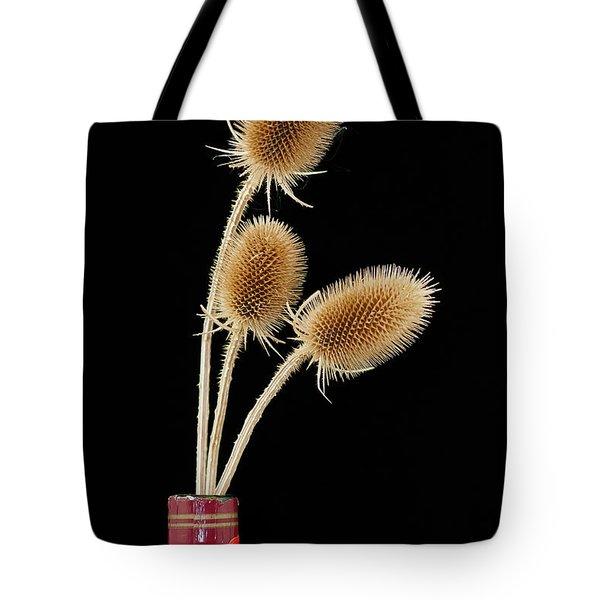 Tote Bag featuring the photograph Flowers In A Bottle by Michael D Miller