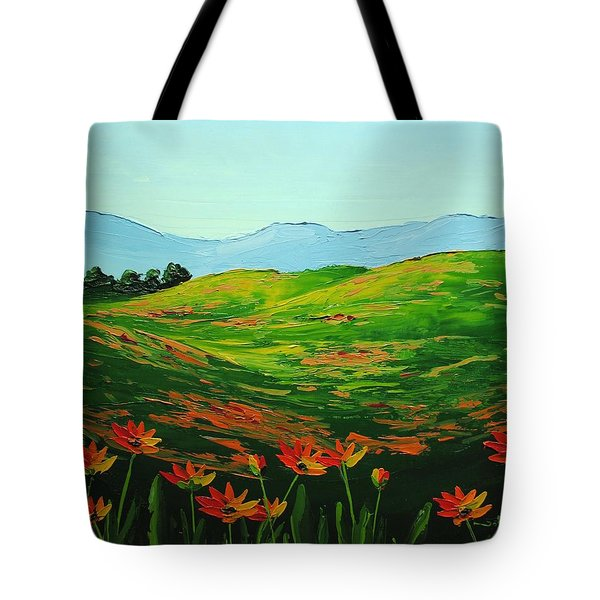 Flowers In A Meadow Tote Bag by Nolan Clark