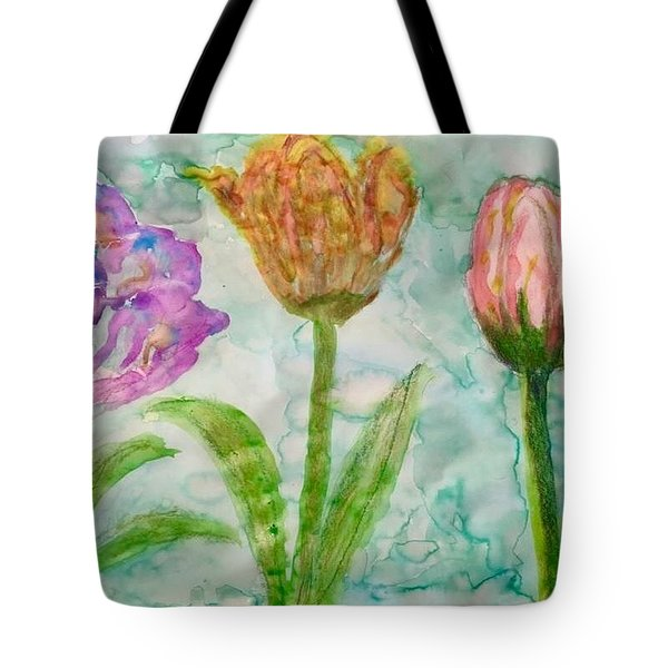 Tulips A'bloom Tote Bag