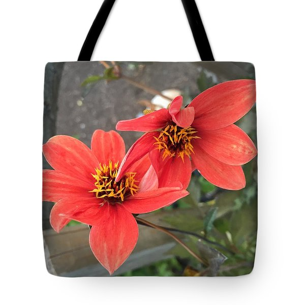 Flowers In Love Tote Bag