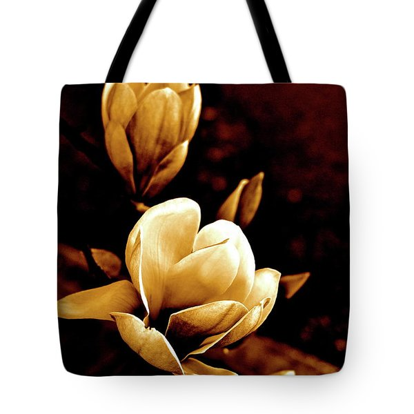 Flowers In Sepia  Tote Bag