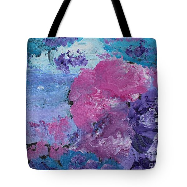 Flowers In The Clouds Tote Bag