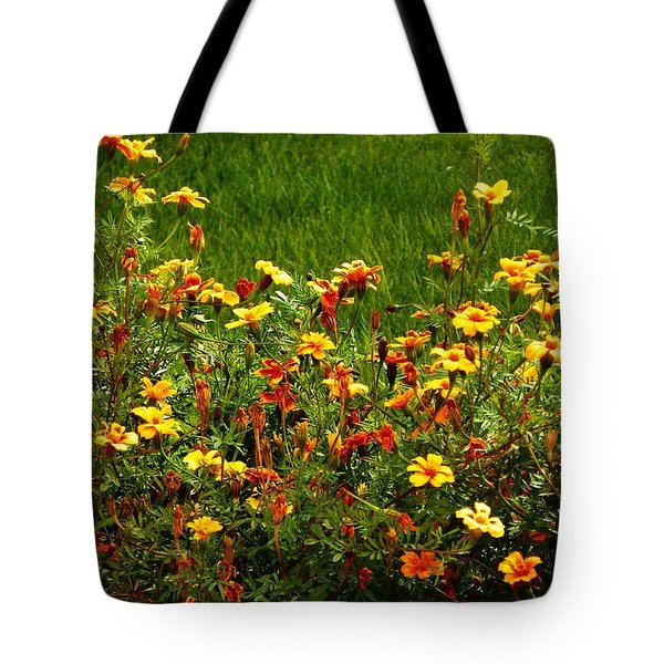 Flowers In The Fields Tote Bag