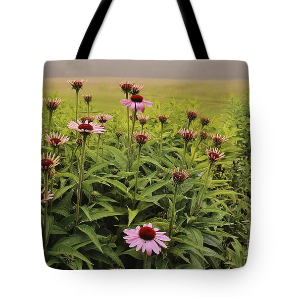 Flowers In The Fog Tote Bag