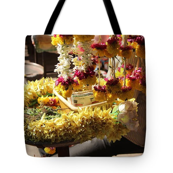 Flowers In The Market, Near Sajjangad 2 Tote Bag