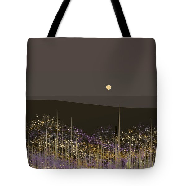 Flowers In The Moonlight Tote Bag