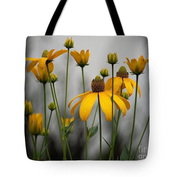 Flowers In The Rain Tote Bag