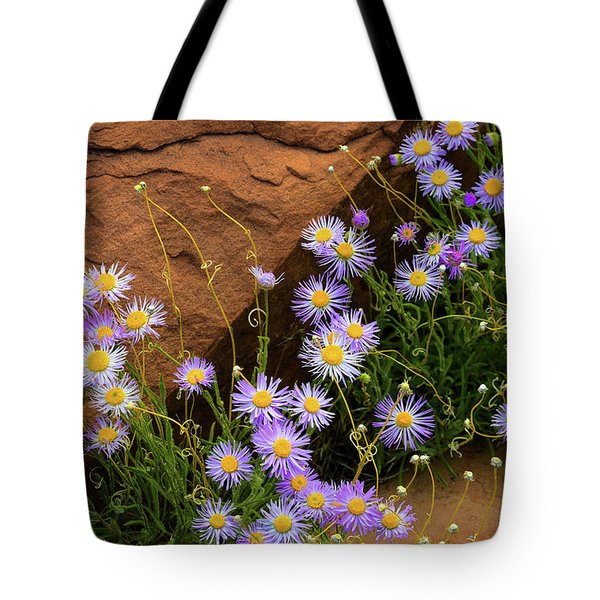 Flowers In The Rocks Tote Bag by Darren White
