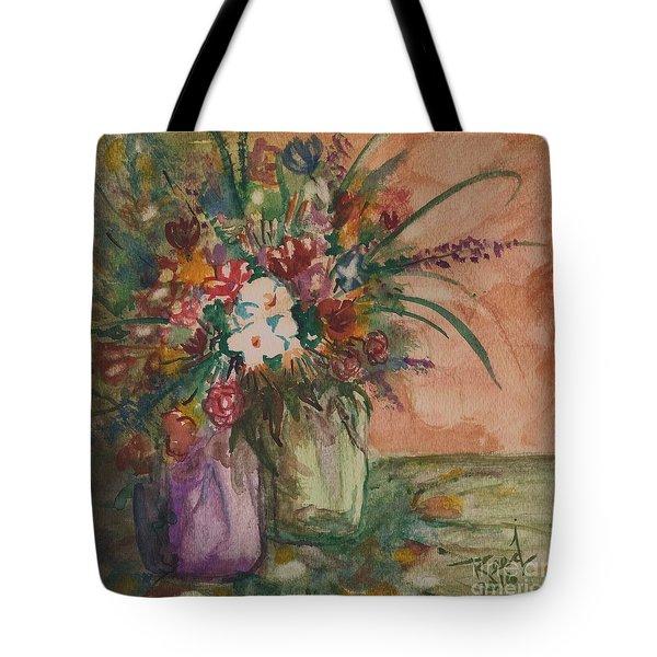 Flowers In Vases 2 Tote Bag