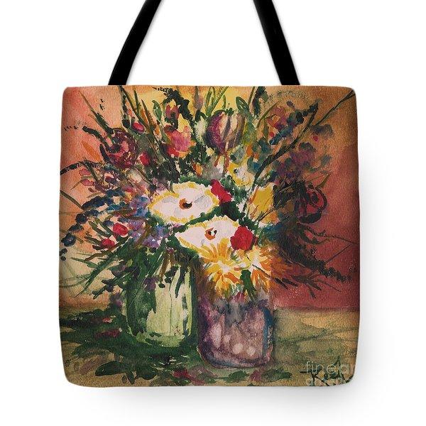 Flowers In Vases Tote Bag