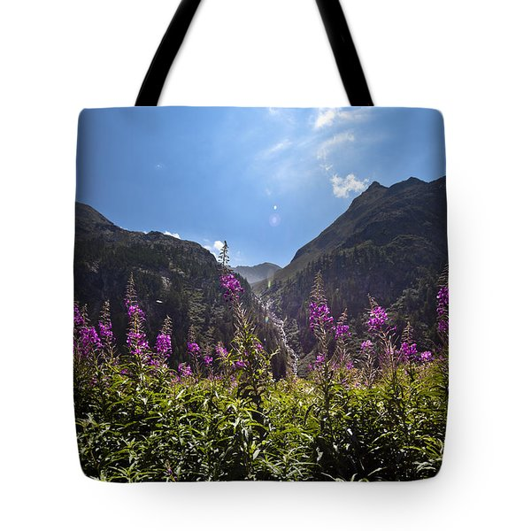 Flowers Line Tote Bag