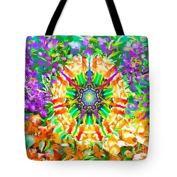 Flowers Mandala Tote Bag