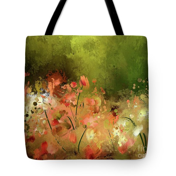 Tote Bag featuring the digital art Flowers Of Corfu by Lois Bryan