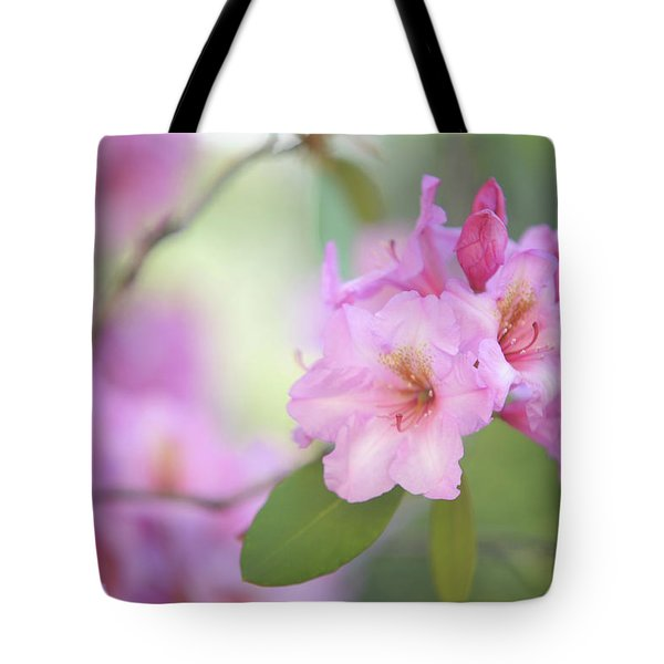 Flowers Of Pink Rhododendron Tote Bag