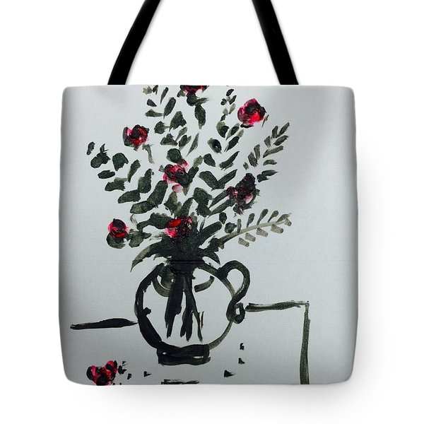 Flowers On Desk Tote Bag