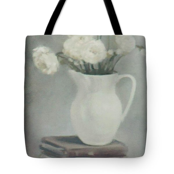Flowers On Old Books Tote Bag