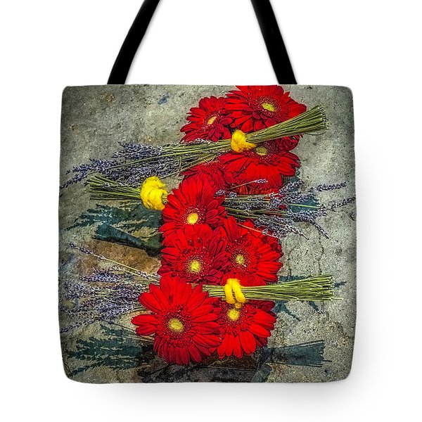 Tote Bag featuring the photograph Flowers On Rocks by Nick Zelinsky
