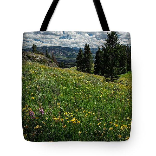 Flowers On The Hillside Tote Bag