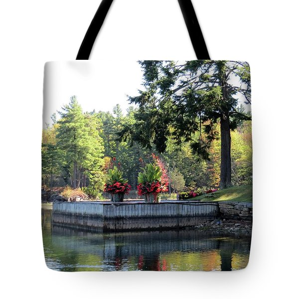 Flowers On The Rift Tote Bag