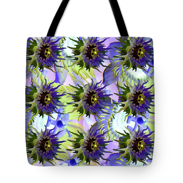 Flowers On The Wall Tote Bag by Betsy Knapp