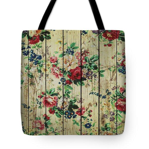 Flowers On Wood 01 Tote Bag