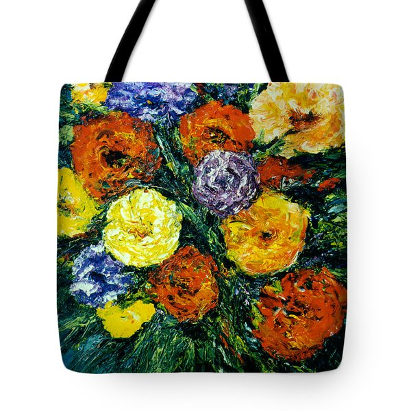 Flowers Painting #191 Tote Bag by Donald k Hall