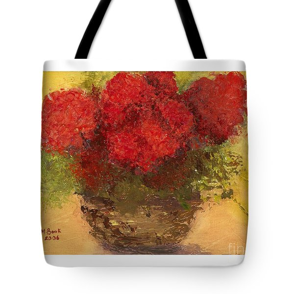 Flowers Red Tote Bag by Marlene Book