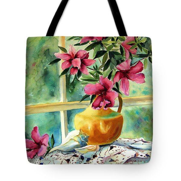 Flowers Shells And Lace Tote Bag