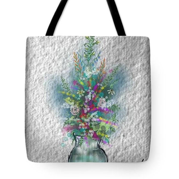 Tote Bag featuring the digital art Flowers Study Two by Darren Cannell