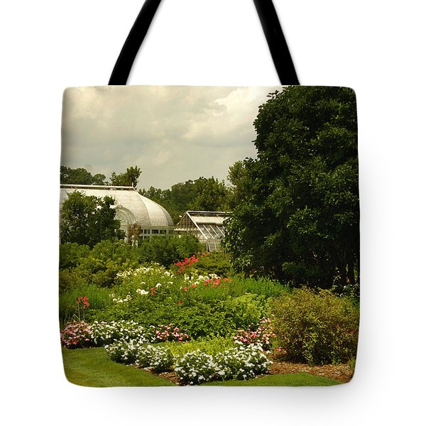 Flowers Under The Clouds Tote Bag